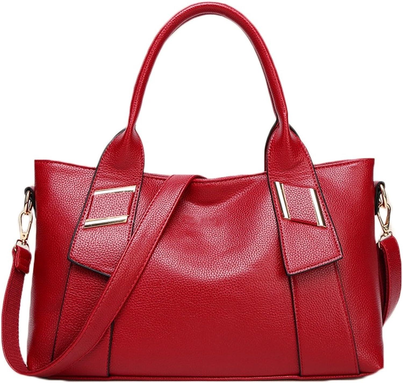 Igspfbjn Frauen Zipper Handtaschen Leder Handtaschen Aktentasche Frauen Single Shoulder Shoulder Shoulder Handtaschen (Farbe   rot) B07K6GS1XP  Moderate Kosten fbd700