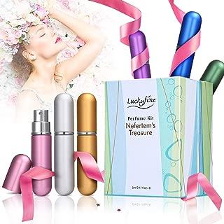 LuckyFine 6 PCS Mini Perfume Gift Set for Women, 6 Scent Fragrances Kit Spray Perfume for Girls Valentine's Day Gift Set