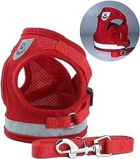 MOAAA Pet Harness + Leash Set Training Walking Leads for Small Dog Harness Collar