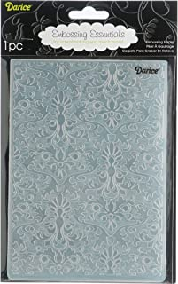 """Darice 1217-63 Damask Embossing Folder, 5 by 7-Inch, 5"""" X 7"""", Clear"""
