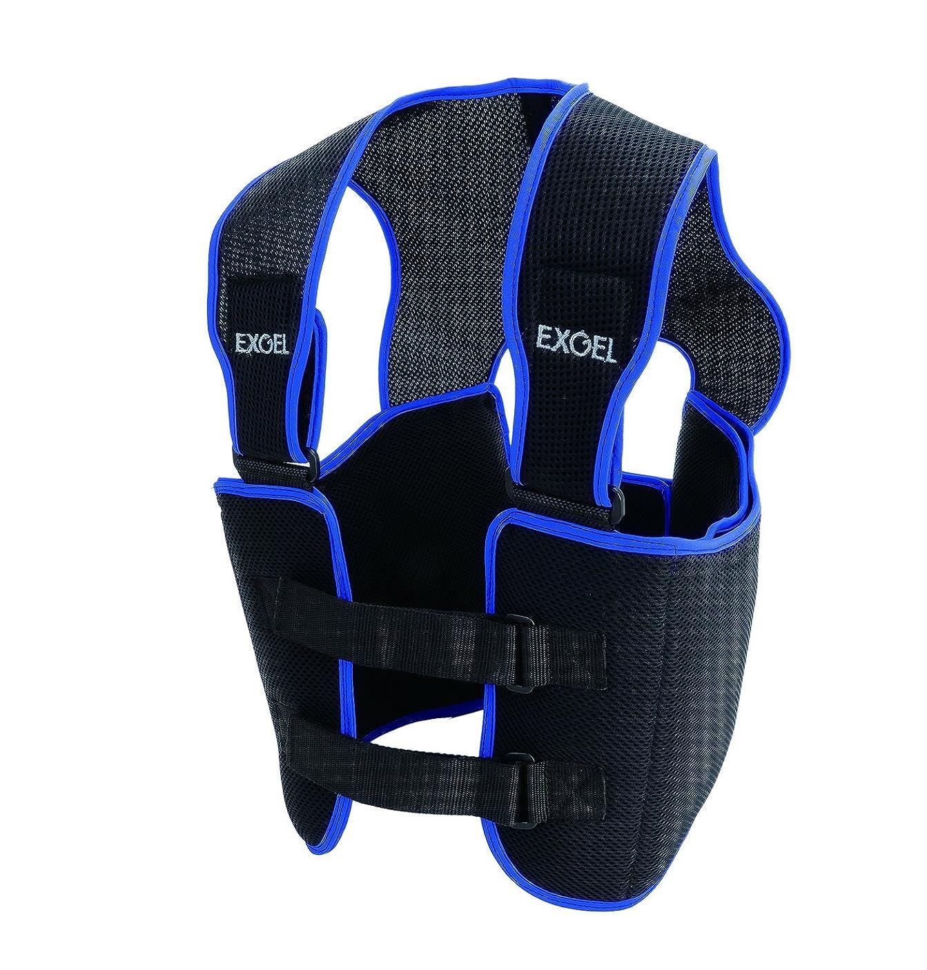 肩をすくめる継続中不変エクスジェル (EXGEL) リブプロテクター ベスト 17 Mサイズ AKK22M-BK