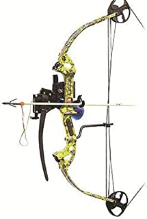 PSE Archery Discovery 30 Inch Bow Fishing Package - Muzzy Yellow RH 29-40 Lbs