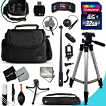 Xtech PRO 32GB Accessories KIT for Samsung NX500, NX1, NX3000, WB2200F, WB1100F, NX30, NX, NX2000, NX1100, NX300, NX300M, EX2F, NX1000, NX210 Cameras Includes: 32GB Memory Card + Monopod + Padded Case