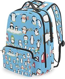 Mochila con Bolsa Cruzada Desmontable, diseño de pingüino