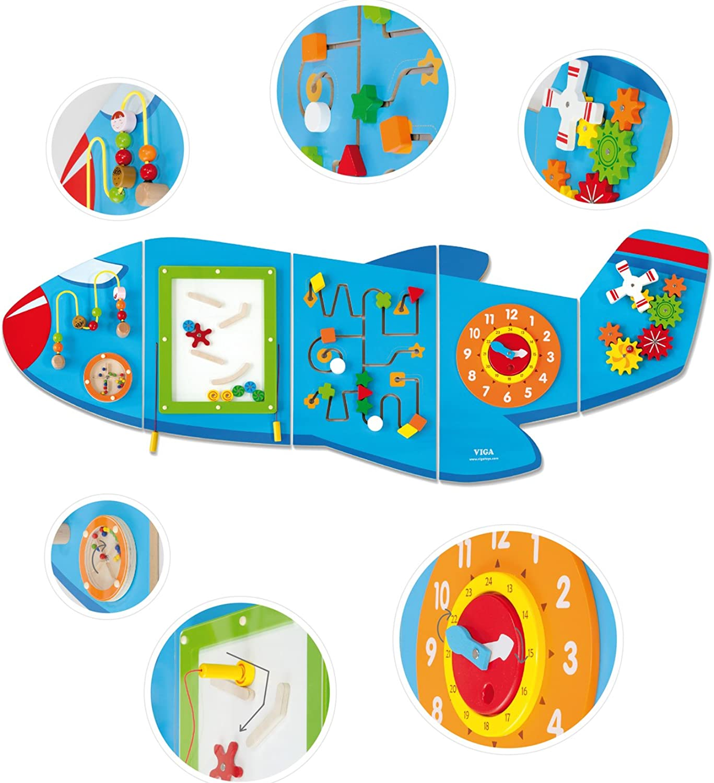 Eitech GmbH 50673 Toy Viga Toys-Wandspiel-Flugzeug