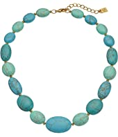 "LAUREN Ralph Lauren Paradise Found 18"" Turquoise Nugget Bead Necklace"