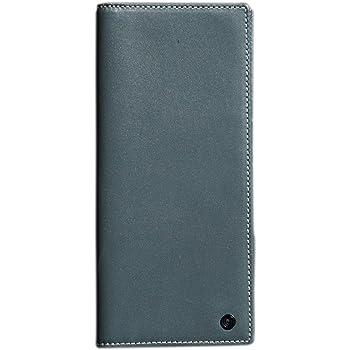 Pacer Go Slim Long Travel Wallet Passport Holder Genuine Leather RFID Blocking Cash Slot Card Slot Boarding Pass Grey