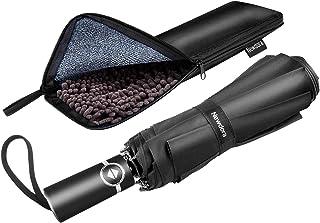 Newdora Paraguas Plegable Automático Negro Impermeable 10