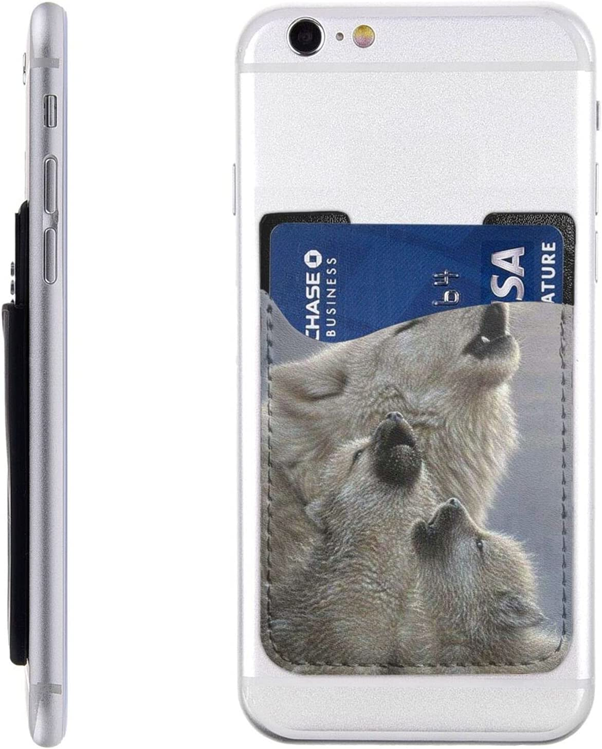 Wolves Phone Card Holder Cell San Francisco Mall Stick Ranking TOP12 Sleeve On Wallet