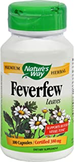 Natures Way Fever Few Herb Leaves, 100 ct