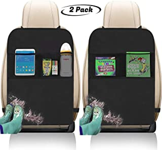 Freddie and Sebbie Kick Mats- Luxury Car Seat Back Protectors 2 Pack, Perfect Backseat..