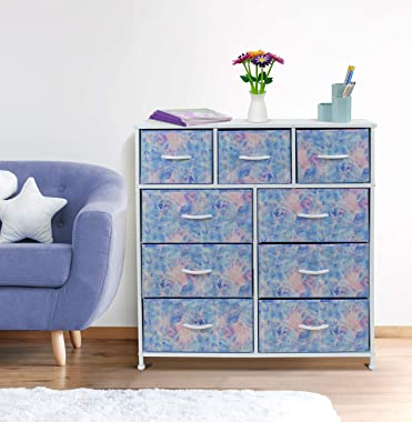 Sorbus Dresser with 9 Drawers - Furniture Storage Chest Tower Unit for Bedroom, Hallway, Closet, Office Organization - Steel