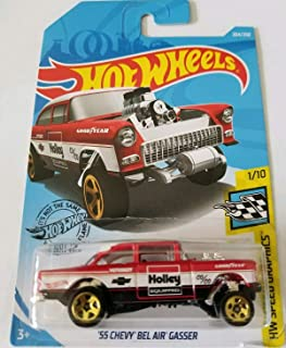 Hot Wheels 2019 Hw Speed Graphics '55 Chevy Bel Air Gasser (Red)