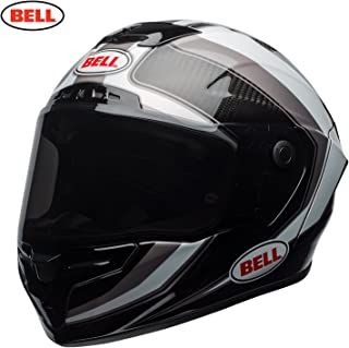 Bell 2018 Race Star - Casco integral para motocicleta (color blanco y titanio)