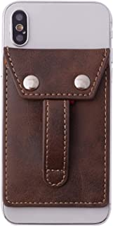 Phone Flipper Phone Wallet - Stick-On Pocket for Cash & Credit Cards - Anti-Drop Finger Handle Loop Grip, Smartphone Stand...