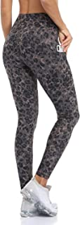 ATTRACO Womens Leggings Printed High Waist Yoga Pants with Pockets Workout Tights