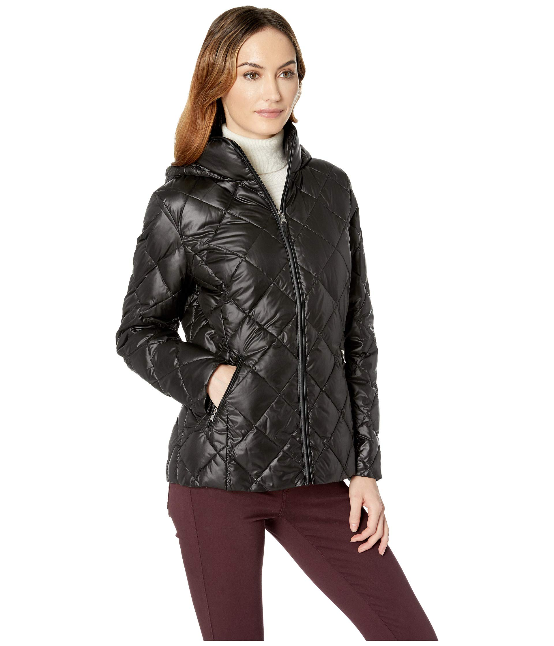 Black Lauren Trim Ralph Faux Soft Down Leather FY0YPqrw