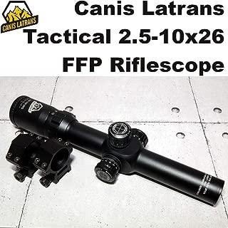 Canis Latrans Tactical 2.5-10x26 FFP ライフルスコープ (1013) ファースト フォーカル プレン エアガン 電動ガン ガスガン スナイパー
