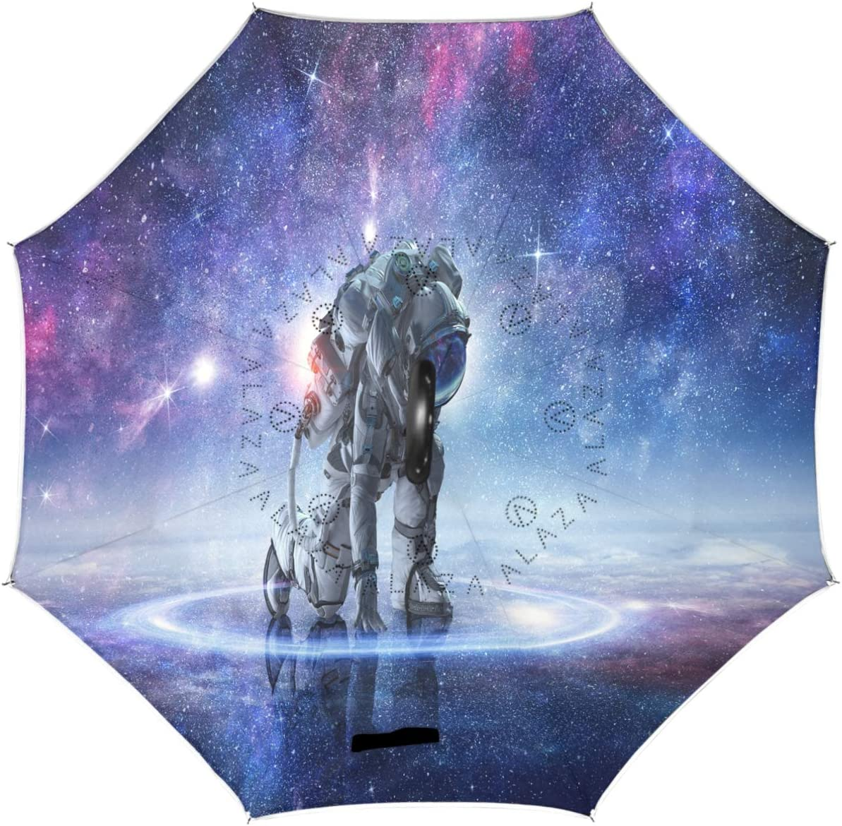 Choice Wamika Sale price Astronaut Galaxy Reverse Umbrella S Layer Double Universe