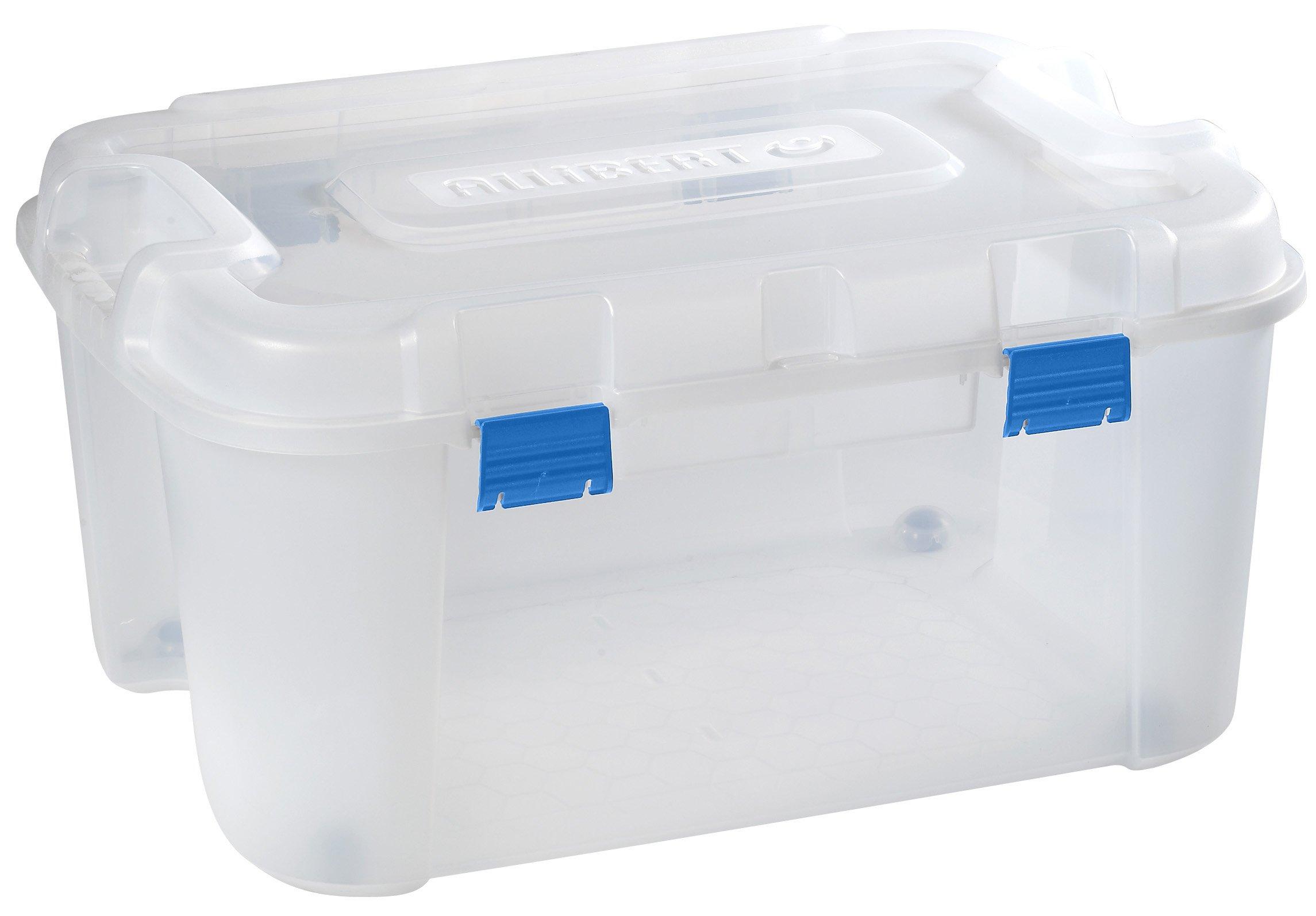 Allibert 191008 - Caja de almacenaje con Ruedas (140 l, Polipropileno), Transparente: Amazon.es: Hogar