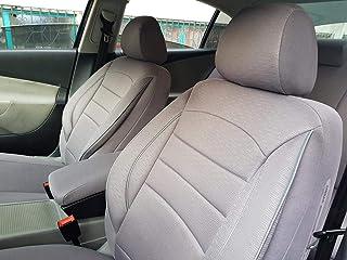 Schwarz-graue Dreiecke Sitzbezüge für MERCEDES-BENZ C-KLASSE Autositzbezug VORNE