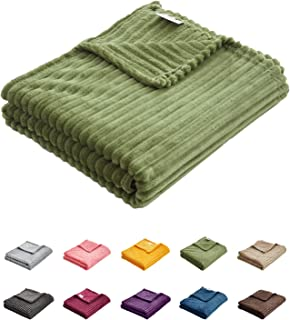 روتختی Uozzi Flannel Fleece Baby Toddler Pantket All -Season Ultra Soft Plush نازک پتو برای تختخواب -100٪ Microfiber Polyester Green 27X39 Inch