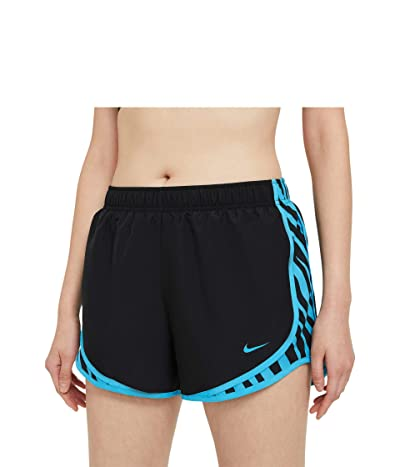 Nike Tempo Shorts Zebra Print (Black/Chlorine Blue/Chlorine Blue) Women