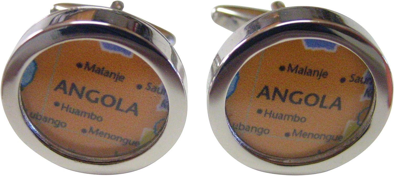 Angola Map Cufflinks