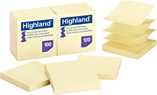 Highland Pop-up Notes, 3 x 3-Inches,Yellow, 12-Pads/Pack