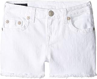 [トゥルーレリジョン] True Religion Kids ガールズ Joey Shorts in White (Big Kids) パンツ [並行輸入品]