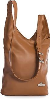 LIATALIA Womens Genuine Soft Italian Leather Long Shoulder Strap Cross Body Hobo Bag - KALEY