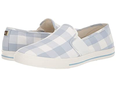 LAUREN Ralph Lauren Jinny Sneaker (English Blue/Cream Large Gingham Check) Women
