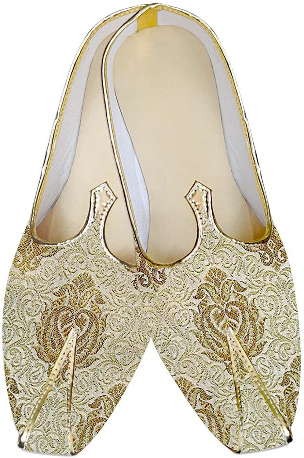 INMONARCH Mens golden Groom Wedding shoes MJ012979