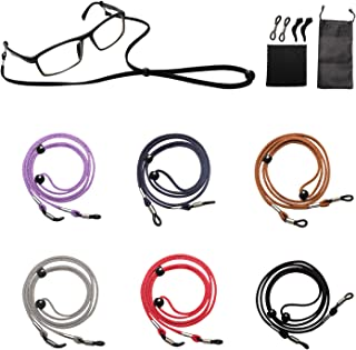 6-10 Pcs with Six Colors Eyeglasses Holder Straps Cord - Leather Sunglass Cord Lanyard (6 GIFTS)