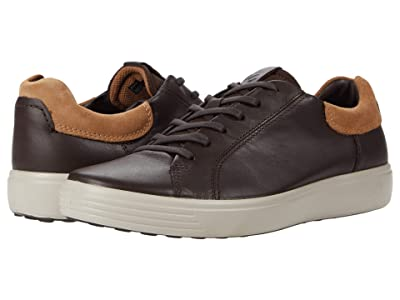 ECCO Soft 7 Street Sneaker (Mocha/Cashmere/Mocha) Men