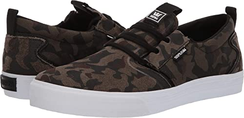 Supra Hommes's FFaible chaussures,7,Camo - blanc