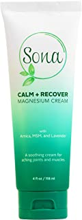 Sponsored Ad - Sona Calm + Recover Magnesium Cream with MSM, Arnica and Organic Oils – Pure Genuine Zechstein Magnesium – ...