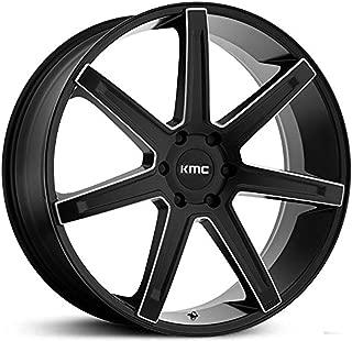 KMC KM700 REVERT Satin Black Milled Wheel Chromium (hexavalent compounds) (22 x 9.5 inches /5 x 74 mm, 38 mm Offset)