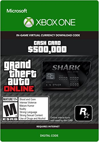 Grand Theft Auto Online | GTA V Bull Shark Cash Card | 500,000 GTA-Dollars | Xbox One – Code jeu à télécharger