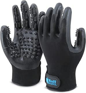 Ruff - 2019 Pet Grooming Glove | Remove Excess Fur on Dogs, Cats, Horses and More! | Comfortable Pair of Gloves | Gently M...