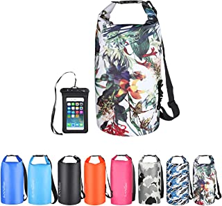 OMGear Waterproof Dry Bag Backpack Waterproof Phone Pouch 40L/30L/20L/10L/5L Floating Dry Sack for Kayaking Boating Sailing Canoeing Rafting Hiking Camping Outdoors Activities
