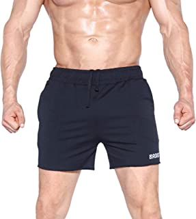 BROKIG Mens Hanging Belt Gym Workout Shorts 5