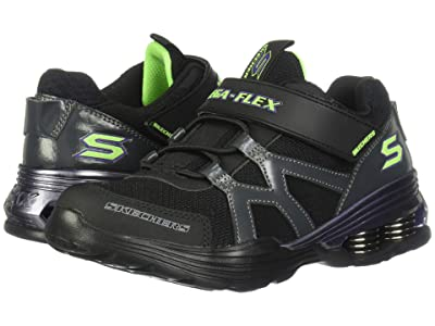 SKECHERS KIDS Gore Strap Sneaker 97990L (Little Kid/Big Kid) (Black/Purple) Boy