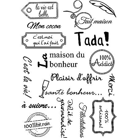 Français motsTransparent Tampons De Silicone Transparents pour DIY Scrapbooking/Fabrication De Cartes/Enfants De Noël Amusant Décoration Fournitures A1009