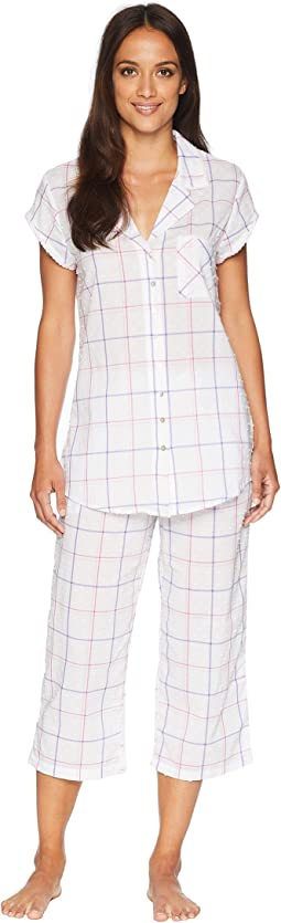 Swiss Dot Notch Collar Pajama Set