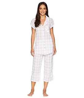 Swiss Dot Notch Collar Pajama Set