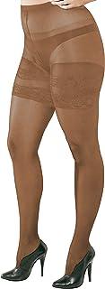 WOOTI Collant RUSTICA 20 den per taglie forti, costruito per consentire il massimo comfort e adattabilità alla silhouette
