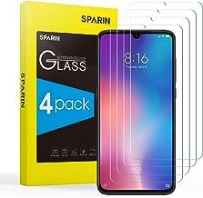 SPARIN [4-Pack] Protector Pantalla XiaoMi Mi 9 / CC9, Cristal Templado XiaoMi Mi 9 / CC9, Vidrio Templado con [Alta Definición] [9H Dureza] [Sin Burbujas] [Anti-Huella] [2.5D Borde Redondo]