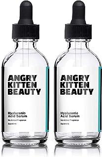 Hyaluronic Acid Serum for Skin—Double Pack 2 Fl Oz Bottles, 100% Pure Anti-Aging Serum, Anti-Wrinkle, Collagen-Enhancing A...