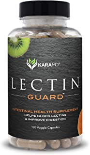 KaraMD Lectin Guard   Doctor Formulated Natural & Concentrated Lectin Blocker Digestive Blend Supplement   Complete Intestinal Health for Men & Women   Protect Against Harmful Lectins - 120 Capsules